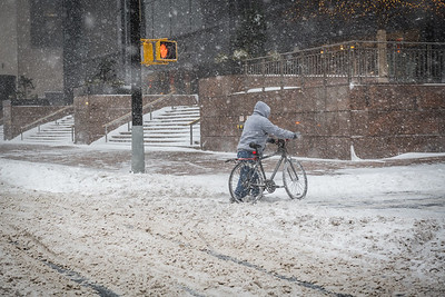 Bicycle in Snow Storm