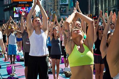 """Times Square Yoga"""