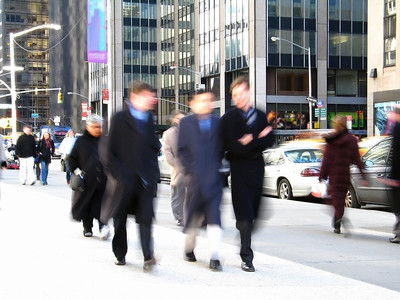 """""""Business Men"""" This is a blur shot of business people on their lunch hour in Manhattan"""