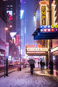 Snowing 42nd St
