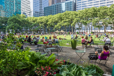 Busy Day Bryant Park