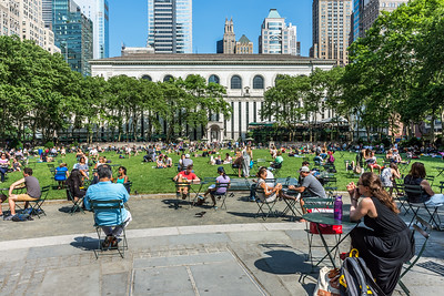 Bryant Park Crowd