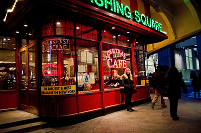 """""""Central Cafe"""" The Central Cafe in Pershing Square across from Grand Central Terminal in Manhattan on February 1st, 2013."""
