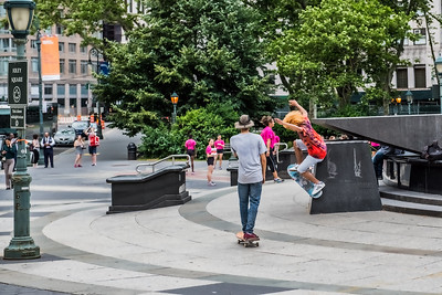 Skateboarder Foley Square