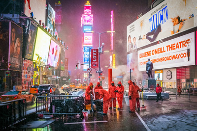 Workers Times Square