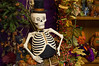 """Top Hat Skeleton"" A skeleton with a top hat in a Halloween display."