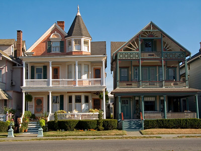 """Victorian Homes""   Scenic homes in Ocean Grove, New Jersey."