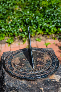 Old Sundial in Garden