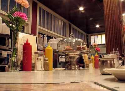 """""""Local Diner"""" A look at an old fashioned diner counter."""
