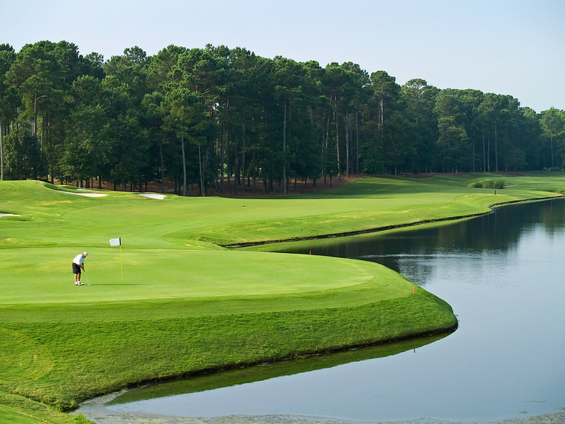 """""""Final Shot"""" A view from the 18th hole on the TPC golf course near Myrtle Beach in South Carolina."""