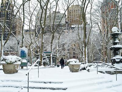 Bryant Park Snow