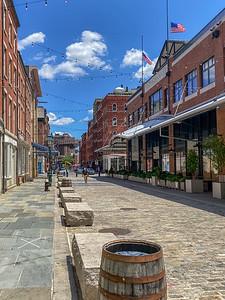 Empty Cobblestone Street