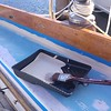 Deck paint begins in the cockpit.