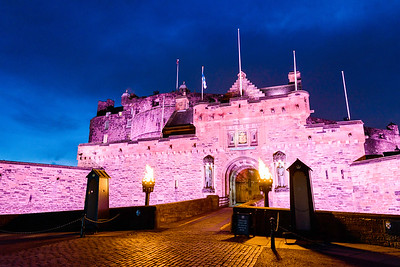 The lanterns are lit at Edinburgh Castle