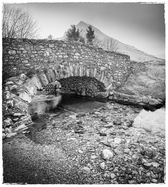 A shot at Wast Water of a small bridge over a stream.