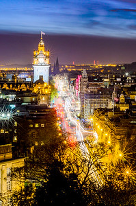 Light Trails on Princes Street