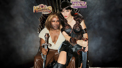 Legendary Hercules and Xena on the Iron Throne. Brace yourselves... ZEBRAWOOD is Coming.