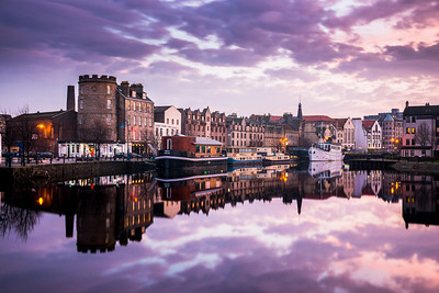 Sunset at the Shore, Leith