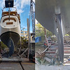 Rudder shape before and after