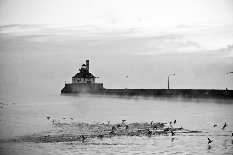 Steam Over Lake Superior