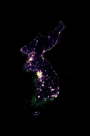 Population density heatmap of Korea