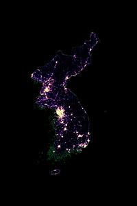 Population density heatmap of Korea