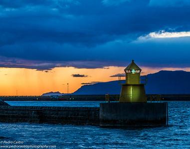 Iceland, Reykjavik - Harbour Lighthouse