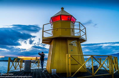 Iceland, Reykjavik - Harbour Lighthouse