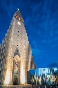 Iceland, Reykjavik - Haligrimskirkja church