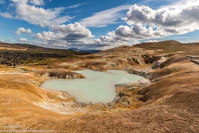Iceland - Leirhnjukur - Riolite e argila
