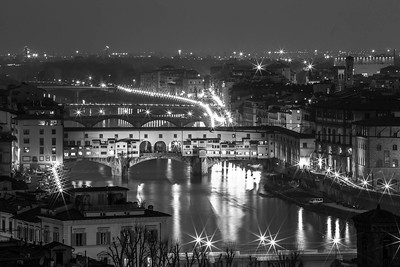 Ponte Vecchio by night from Piazzale Michelangelo- Firenze