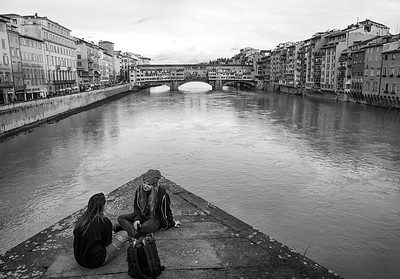 Small Talk at Ponte Santa Trinita - Firenze