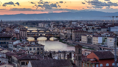 Ponte Vecchio - view from Piazzale Michelangelo - Firenze