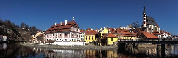 Saint Vitus Church and Vltava river - Cesky Krumlov