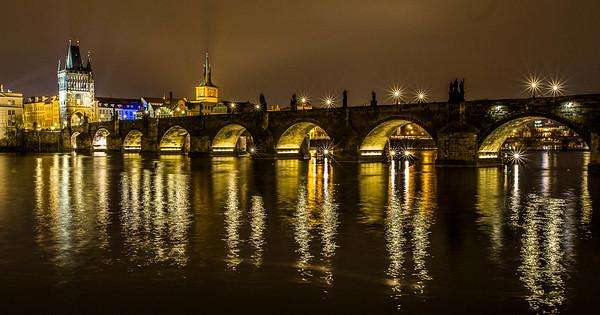 Charles Bridge and Vltava River - Prague