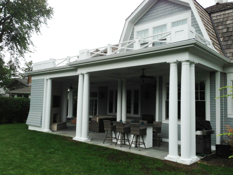 Porch Remodeling Project - Glenview, IL