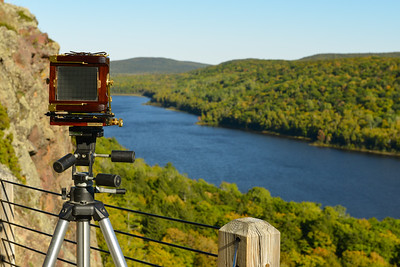Lake of the Clouds and my large format camera (Wista Field)