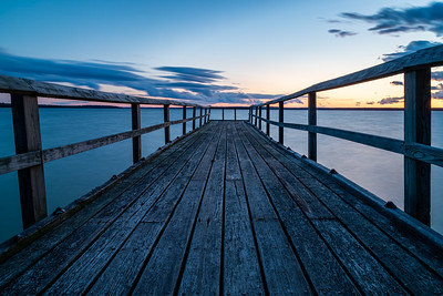 Vanishing Point Dock at Sunset