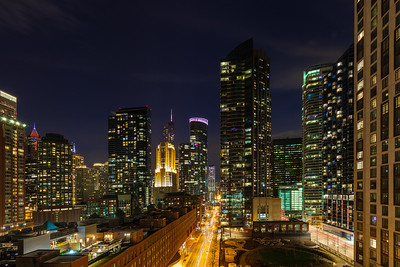 Chicago Cityscape of East Illinois Street