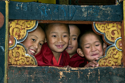 Young monks, Bhutan