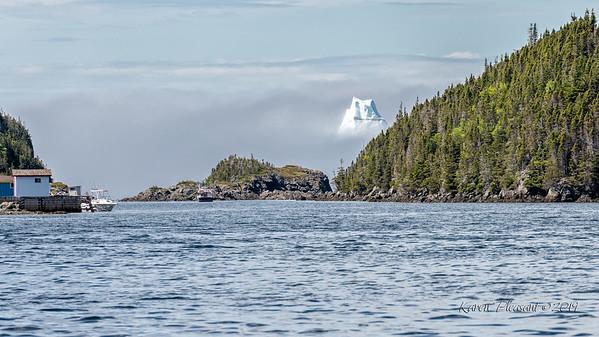 Iceberg above the fog