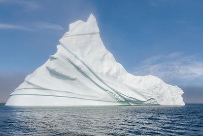 Iceberg as fog clears