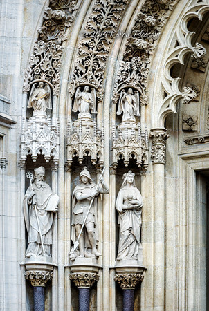 Entrance statues - left