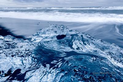 Glacial Ice on Diamond Beach