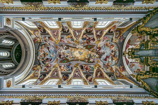 Ceiling of St. Nicholas' Cathedral, Ljubljana