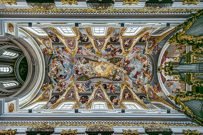 Ceiling of St. Nicholas' Cathedral, Ljubljana