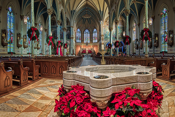 The Cathedral of St. John the Baptist - Baptismal font