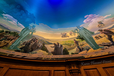 Church of the Latter Day Saints, domed mural by Edward T. Grigware, Cody, Wyoming