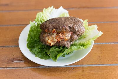 Chilli popper burger