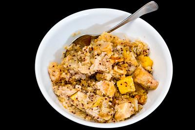 Slow cooker pork quinoa congee